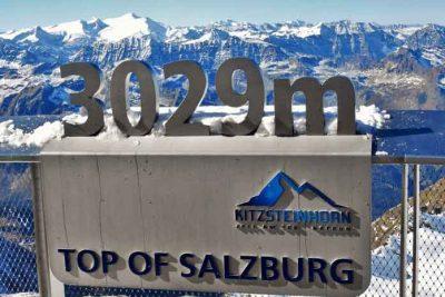 Kitzsteinhorn viewing platform at 3029 meters.