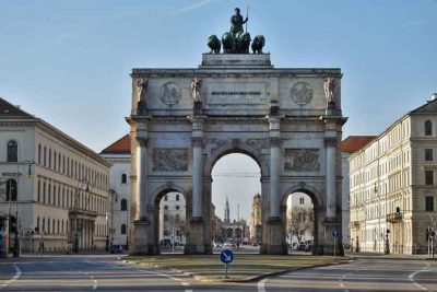 Munich city Siegestor, Victory gate.