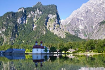 King's Lake peninsula and the famous St. Bartholomew is the Jewel of the Bavarian Alps.