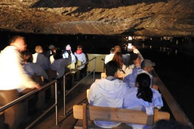 Boat ride inside the Duerrnberg Salt mines.